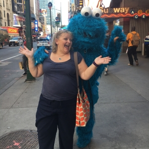 Dawn & Cookie Monster