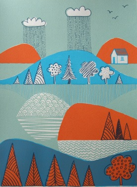 Islands in the Rain varied edition screenprint